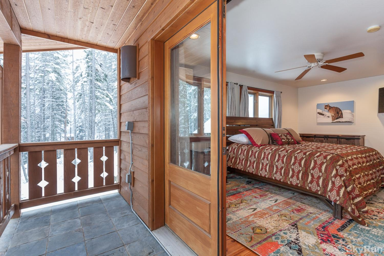 Highland Huckleberry Lodge Step out on the balcony and enjoy view. Keep a sharp eye out for the wildlife.